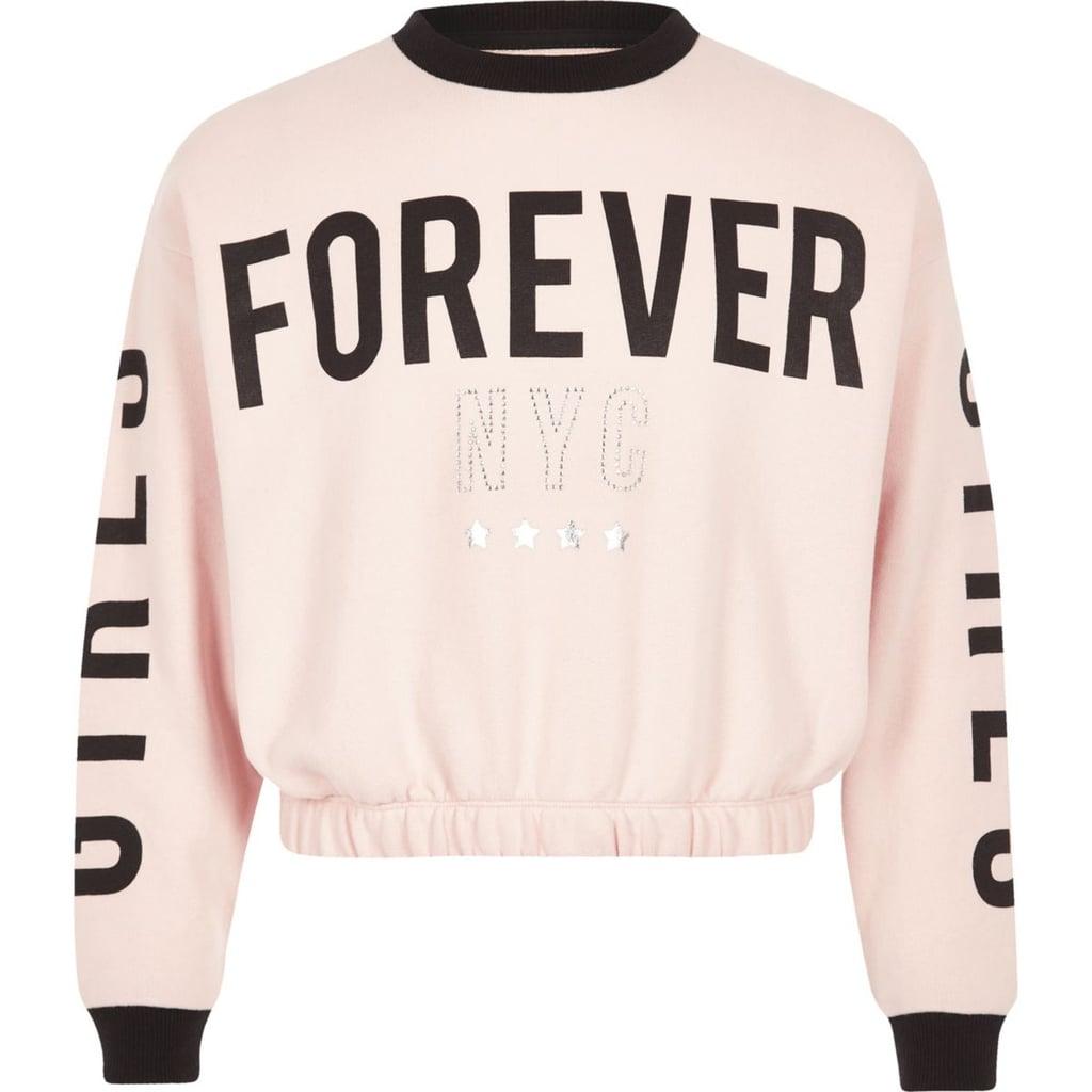 River Island Girls Pink Forever Sweatshirt