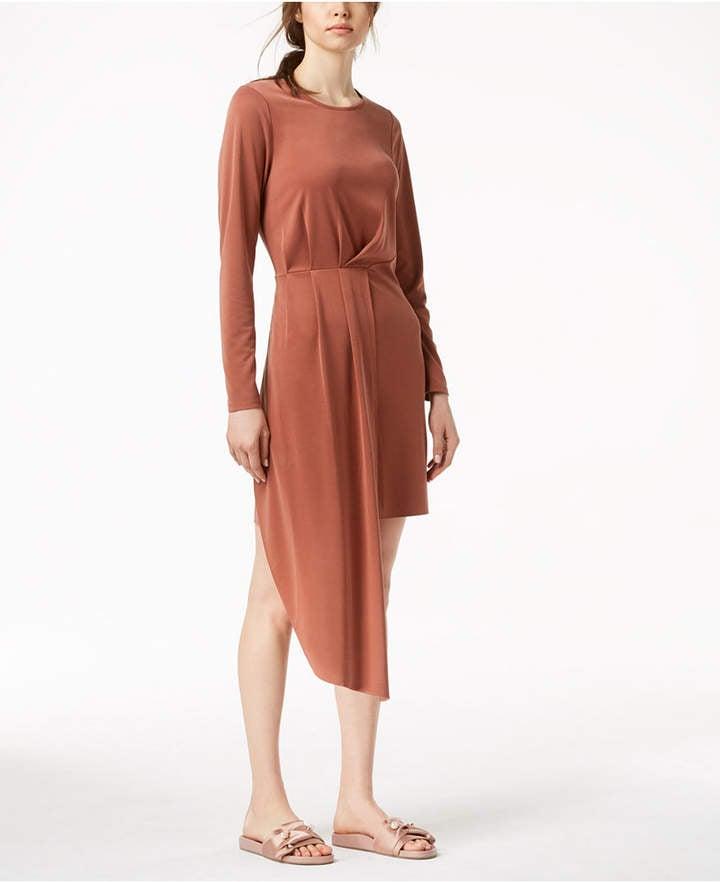 Bar III Pleated Asymmetrical Dress