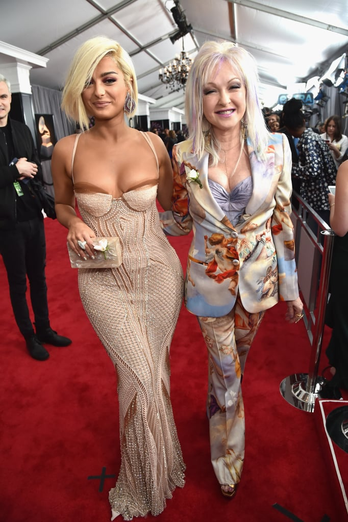 Pictured: Bebe Rexha and Cyndi Lauper