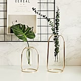 A Chic Metalic Vase Set