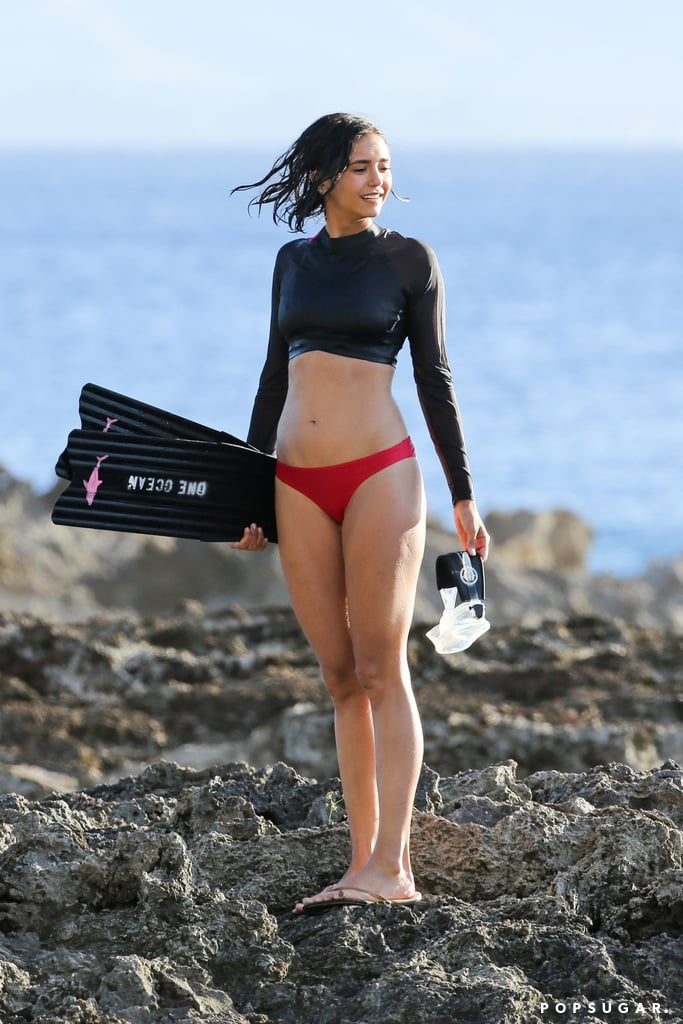 Nina Dobrev in Red Bikini Hot Personal Pics Pic 7 of 35