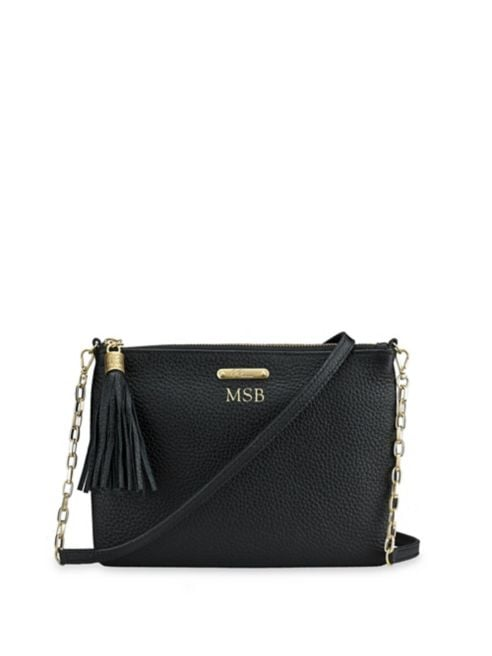 GiGi New York Personalized Leather Crossbody Bag