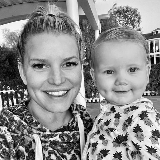 Jessica Simpson and Baby Birdie Matching Dimples Photo