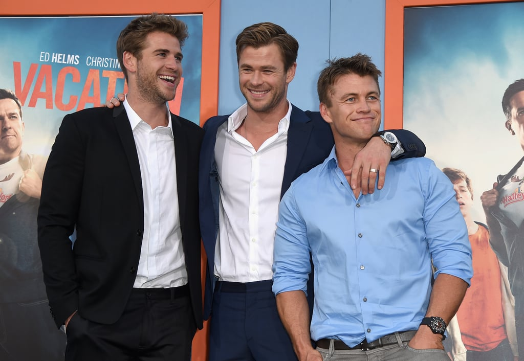 The only thing better than one handsome Hemsworth is three handsome Hemsworths, right? Chris, Liam, and Luke have made several memorable appearances together over the years, most recently cracking up when they walked the red carpet at the LA Vacation premiere in late July. Chris, who turned 32 on Tuesday, has stepped out to support his younger brother Liam, 25, at plenty of events since 2010, and every once in a while, they're joined by their oldest brother, Luke, 33. To celebrate Chris's birthday this week, check out all the best pictures of the Hemsworth brothers through the years, then see his hottest red carpet moments plus his sweetest family photos!