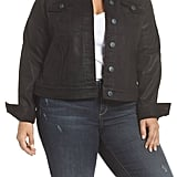 Slink Jeans Coated Denim Jacket With Removable Faux Fur Collar