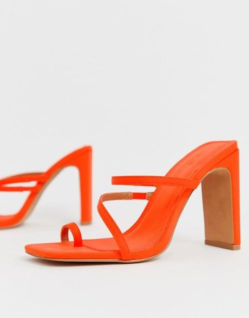 ASOS Design Heckle Toe-Loop Barely There Heels