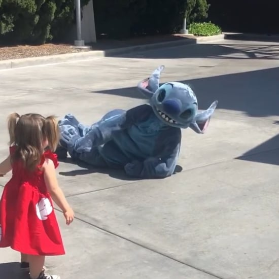 Stitch Falls Down to Make Girl Feel Better at Disneyland