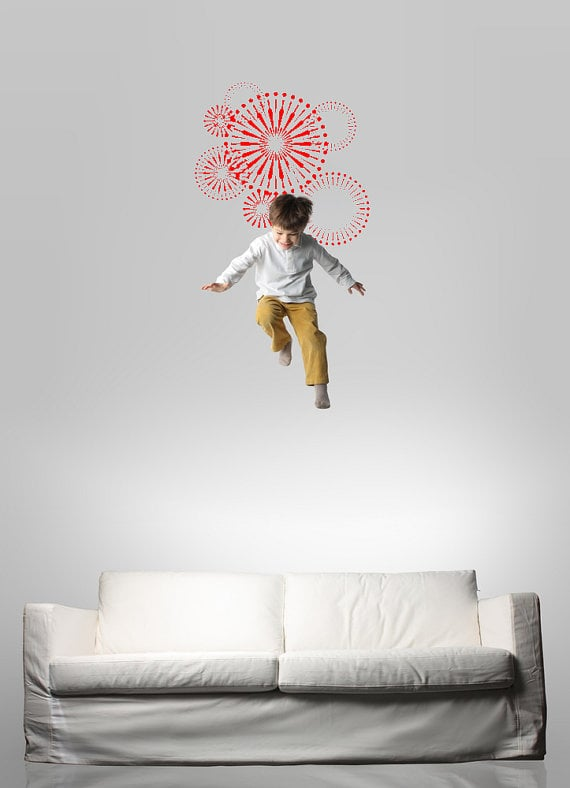 An oversize firework wall decal ($69) makes for high-flying fun, all year-round!