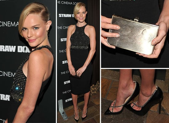 Scope Kate Bosworth's Sparky Black Dress From All Angles at the Straw Dogs Screening in New York City