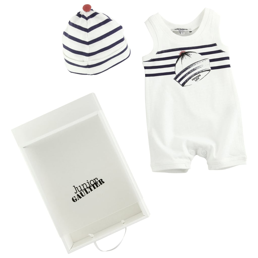 Junior Gaultier Short Jumpsuit and Striped Hat ($98)