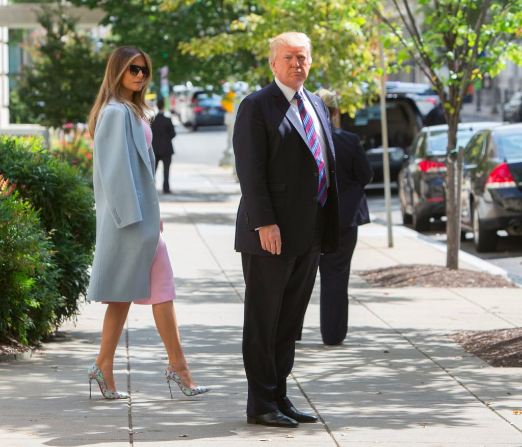 Melania Trump's Heels Definitely Match Both Her Coat and Her Sense of Style