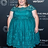 Wearing a Green Lace Dress