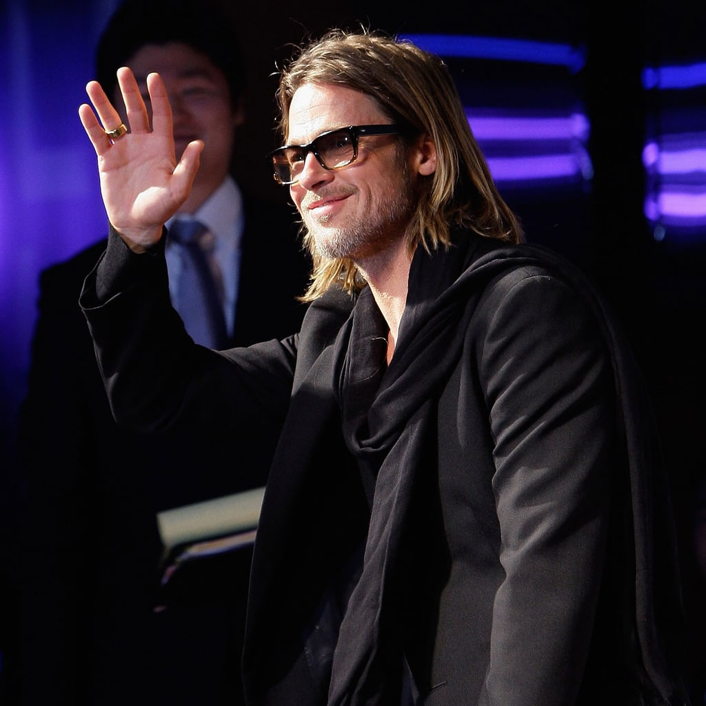 Brad Pitt at Seoul, South Korea Moneyball Premiere Pictures