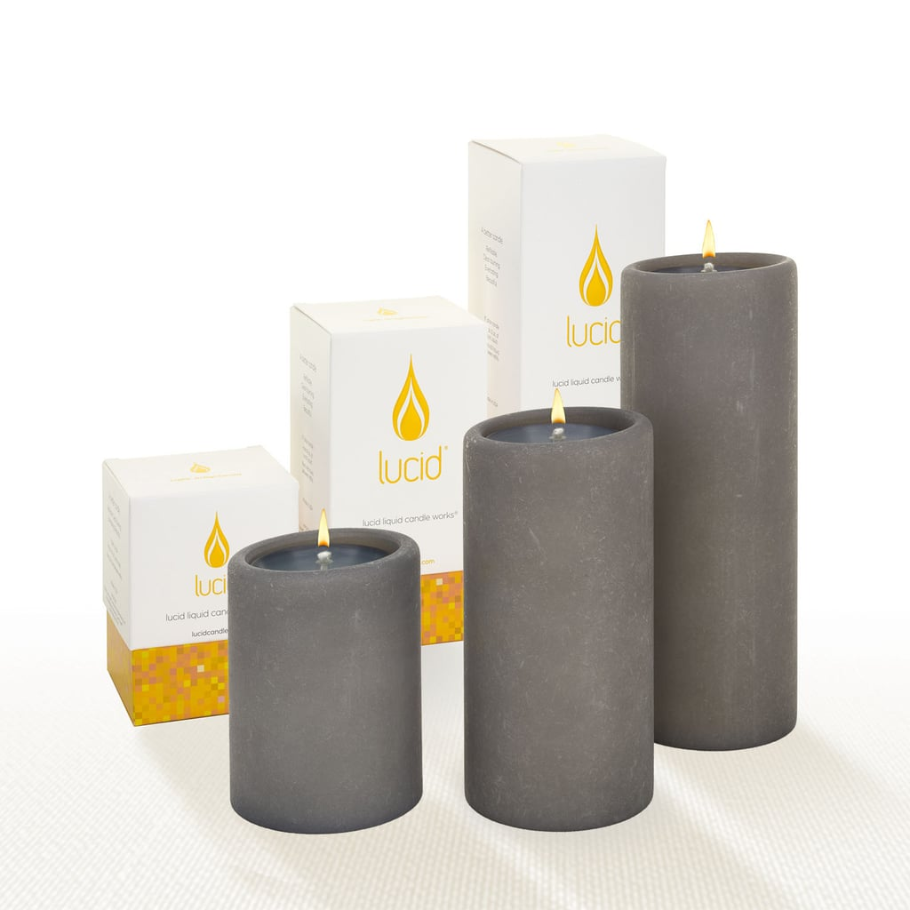 Lucid Gray Pillar Candles
