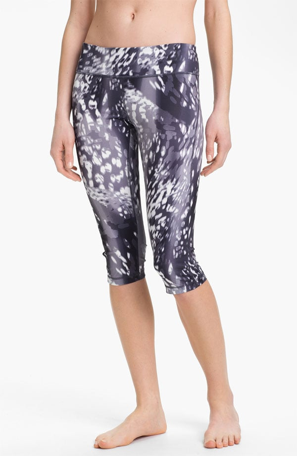 The muted hues of these printed capri leggings ($48) downplay the crazy animal prints. The moisture-wicking knit makes them a perfect pair of pants to throw on when you know you're going to sweat.