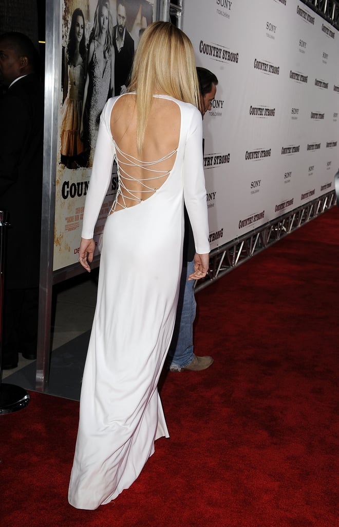 Gwyneth Paltrow Dares to Bare in White Cutout Pucci Dress at Country Strong LA Premiere