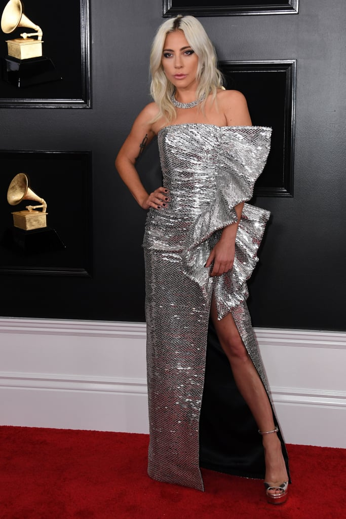 "Lady Gaga is in her element. After previously attending the Golden Globes, Critics' Choice Awards, and Screen Actors Guild Awards for A Star Is Born's award season run, she reunited with the music industry at the 2019 Grammys on Feb. 10. In addition to performing at the award show, Gaga received five nominations this year, including record of the year for ""Shallow.""  In a very casual turn of events, Gaga won two awards before even hitting the red carpet. ""Shallow"" earned her the award for best song written for visual media, while she also nabbed the best pop solo performance award for her recent piano reimagining of 2016's ""Joanne."" In true fashion, Gaga shared a few emotional tweets following her early wins. ""I'm not gonna be able to wear any makeup tonight,"" she said. ""I'm in tears with honour and gratitude."" Once the show got started, Gaga tearfully accepted the award for best pop duo/group performance. Hang in there, Gaga — there's still the Oscars! See highlights from her exciting evening ahead.       Related:                                                                                                           Here's How Many Grammys Lady Gaga Has Heading Into This Year's Show"