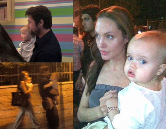 Photos of Brad Pitt and Angelina Jolie With Knox and Vivienne At Ice Cream Place in Amman, Jordan 2009-10-05 05:00:10