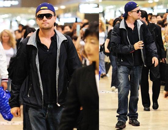 Inception's Leonardo DiCaprio Arriving in Japan 2010-07-19 17:00:00