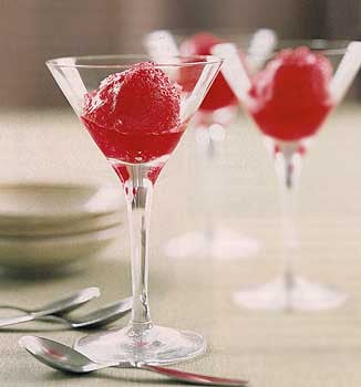 No Bake Dessert: Sorbet with Limoncello Spiked Fruit