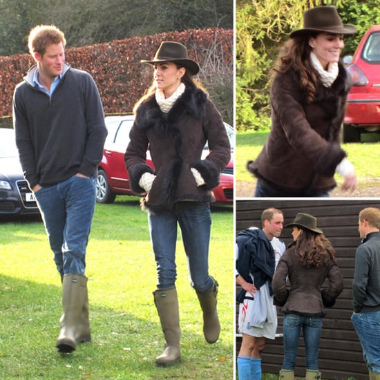Kate Middleton Wellington Boots Pictures With Prince Harry
