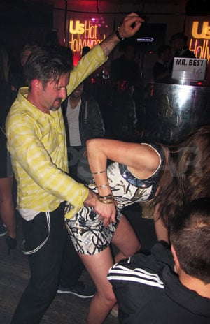 Pictures of David Arquette Dancing With a Random Brunette