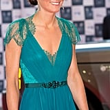 It was custom Jenny Packham for the Our Greatest Team Rises Olympic event in 2012.