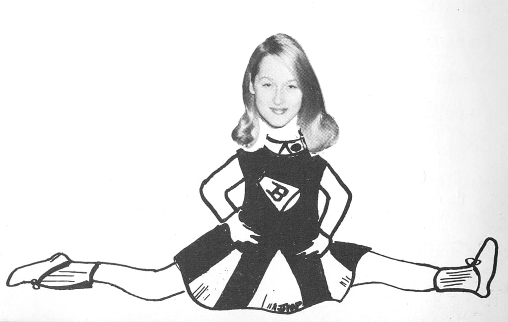 Meryl got silly posing behind this cutout. Source: Seth Poppel/Yearbook Library