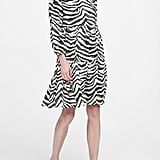 Japan Exclusive Zebra Print Tiered Dress