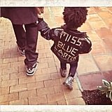 Blue Ivy Carter was a little rebel in leather and Doc Martens. Source: Instagram user beyonce