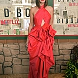 Sandra Bullock Red Dress at Bird Box Screening 2018