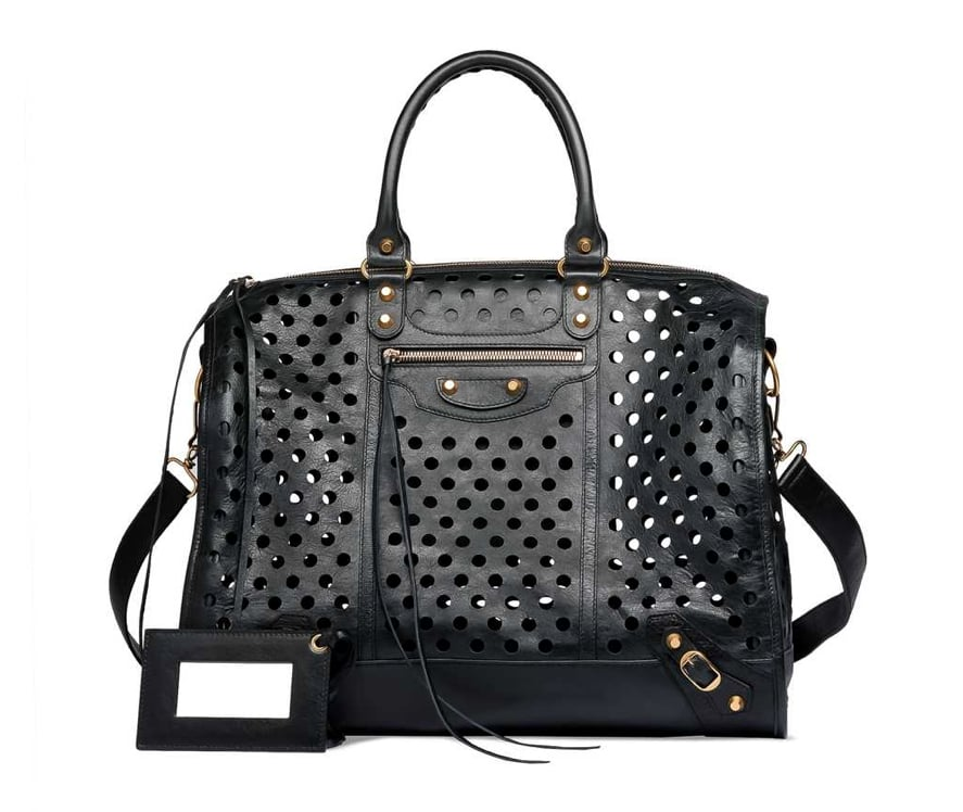 """My newest mission is finding a way to get this bag. I've always had a thing for the street-styled cool of a Balenciaga bag, but this one's perforated detailing makes it even more covetable. I think of this as the kind of purchase that could forever change my wardrobe — it would even make jeans and a white tank look chic."" — Hannah Weil, assistant editor