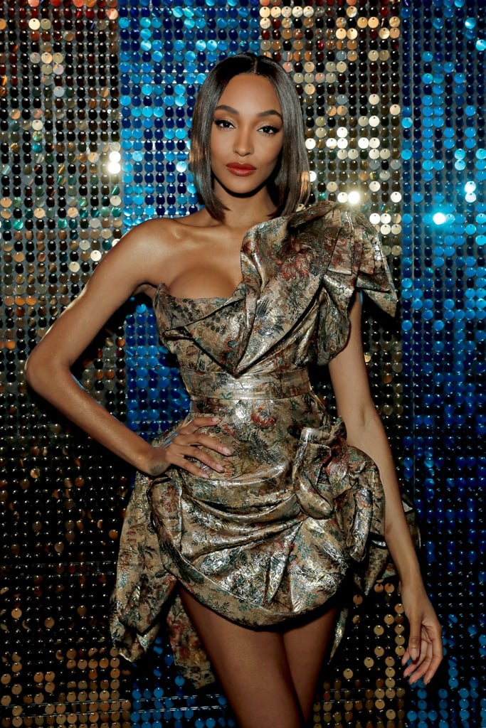 Jourdan Dunn's Holographic Gold French Manicure at the BFAs