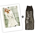 If you're not a fan of blush or pink tones, opt for a Winter white coat and pair it with this pretty Topshop sequined dress. Get the look:  Michael by Michael Kors wrap coat ($178, originally $198) Topshop Unique sequined dress ($300)