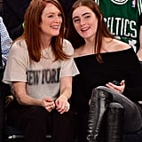 Julianne Moore and Daughter at NY Knicks Game Dec. 2016