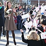 Kate Middleton made the rounds in Oxford wearing Orla Kiely.