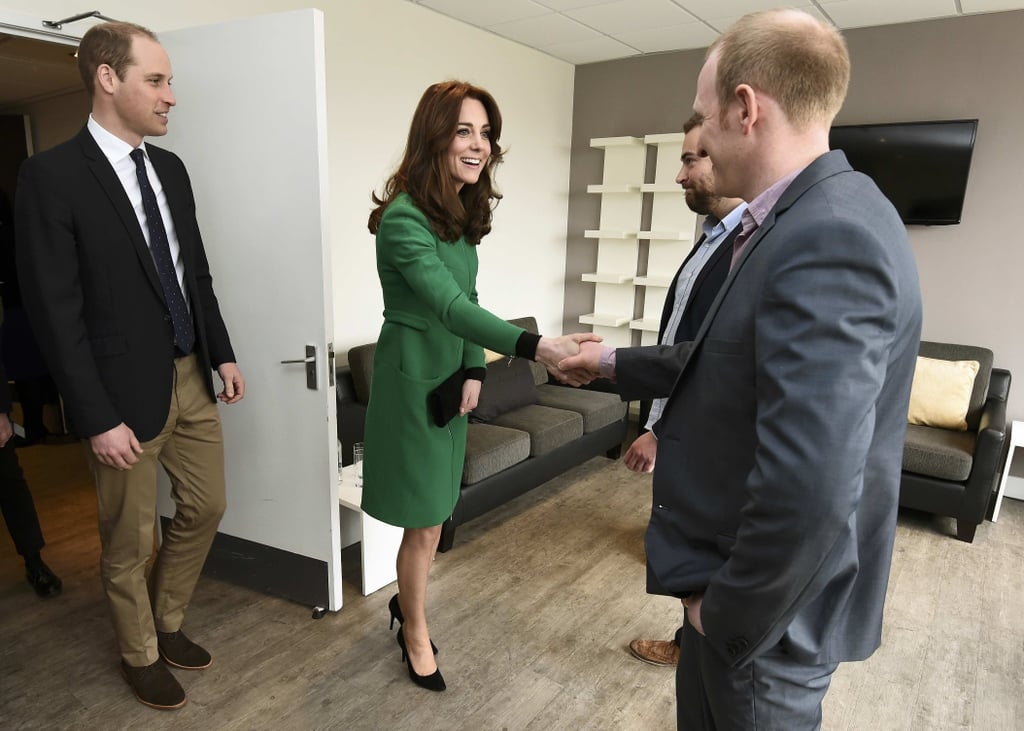Kate Middleton Green Erdem Coat March 2016