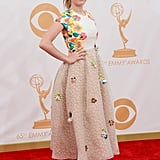 Kiernan Shipka on the red carpet at the 2013 Emmy Awards.