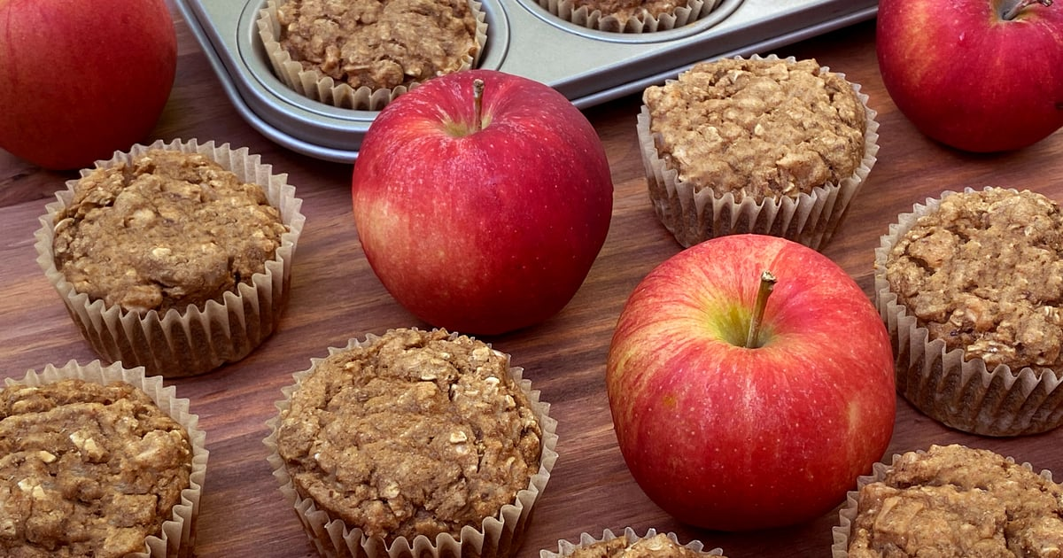 Sugar-Free Perfectly Sweet and Tender Apple Cinnamon Oatmeal Muffins — Just 61 Calories!