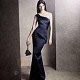 One Shoulder Satin Dress with Asymmetrical Skirt ($168) Photo courtesy of White by Vera Wang