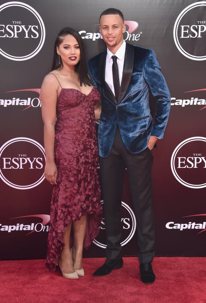 Ayesha and Stephen Curry took a break from hanging with adorable daughters Riley and Ryan and attended the ESPY Awards in LA on Wednesday evening. The pair, who recently returned from Hawaii, struck their best poses for photographers and met up with newly married couple Ciara and Russell Wilson before making their way inside the venue. While Stephen was among the presenters tonight, he also won the award for best record-breaking performance. Earlier this year, the Golden State Warrior became the NBA's first unanimous MVP, winning the coveted title for the second straight season. Take a look at all the celebrity duos who popped up at the event.