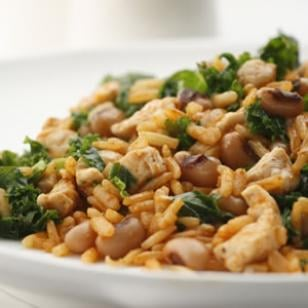 Fast & Easy Recipe For Black-Eyed Peas With Pork and Greens