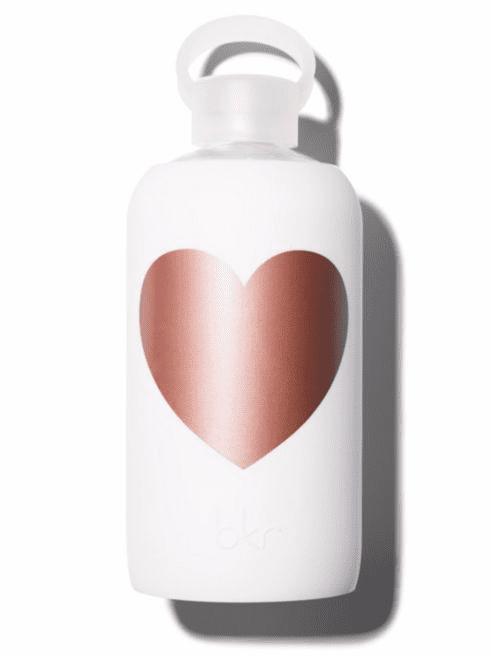 BKR Heart Glass Water Bottle