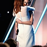 Still Alice costars Julianne Moore and Kristen Stewart held each other tightly on stage at the Hollywood Film Awards in November 2014.