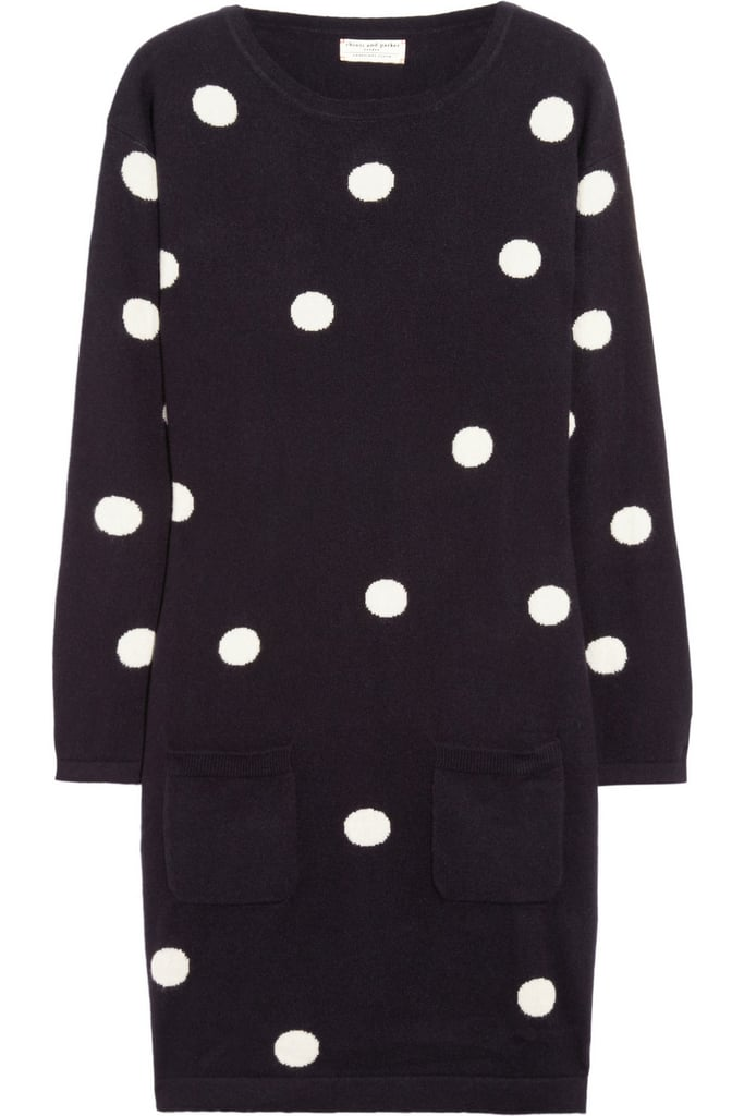 A cozy sweater dress — like Chinti and Parker's Polka-Dot Cashmere Sweater Dress ($615) — will look especially adorable with thick knit tights and loafers.