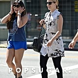 Dianna Agron and Jenna Ushkowitz met for brunch in LA.