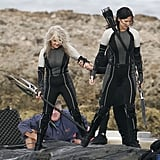Jennifer Lawrence wore a bow and arrow in Hawaii to film for Catching Fire.