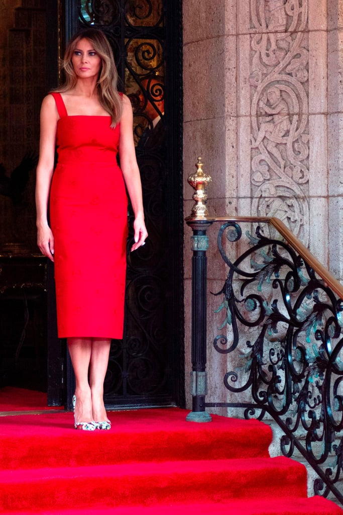 Melania Trump Red Valentino Dress