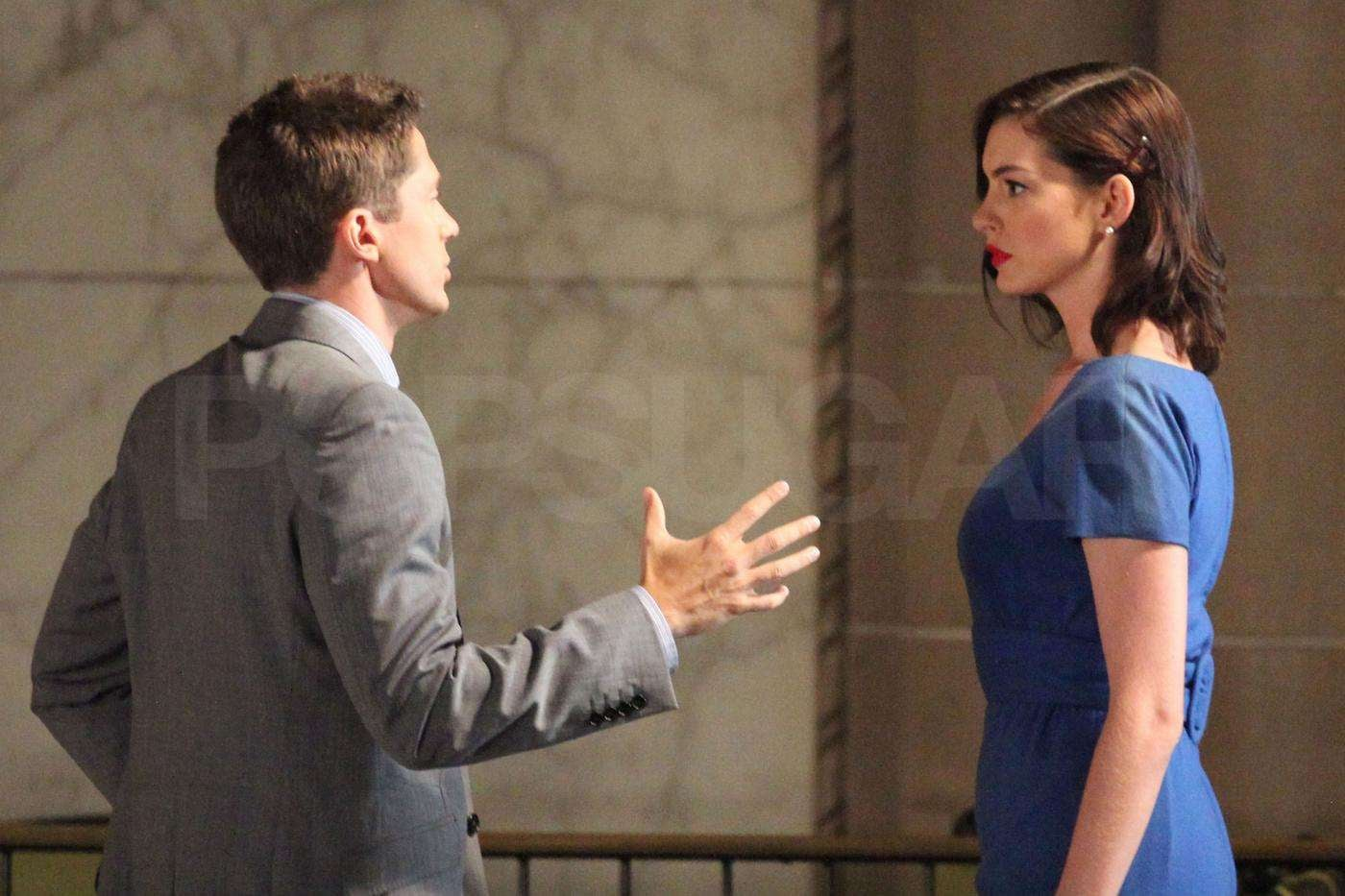 Photos Of Topher Grace And Anne Hathaway Filming Valentine S Day