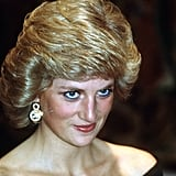 Princess Diana Wearing Blue Eyeliner in 1987